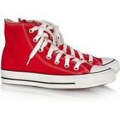 Converse all star red кеды клнверс красные высокие р. 35-44
