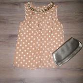 2 в 1. Стильная летняя блуза и клатч. Pазмер S