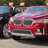 Детский электромобиль BMW x7 m2768 кожа, двухместный , автомобильная покраска