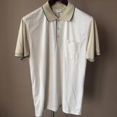 Мужская футболка беж+белый