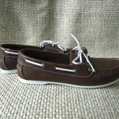 Tamaris р.39 топсайдери туфлі лофери шкіряні