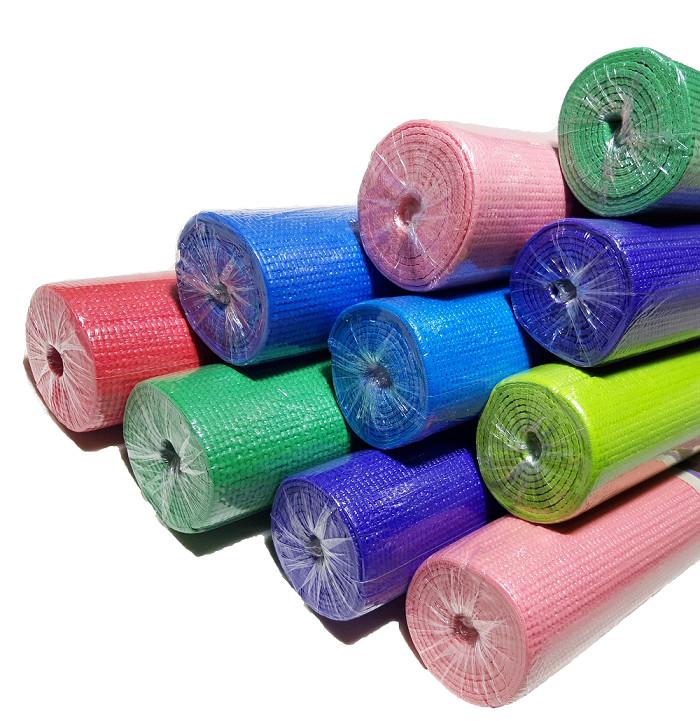 Коврик для йоги, фитнеса и аэробики 1730×610×4мм, pvc,  однослойный фото №1