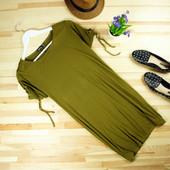 xs-S Boohoo новое платье с завязками на рукавах спортивного свободного стиля!