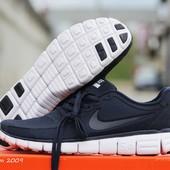 Кроссовки   Nike Free Run 5.0  темно сині з білим