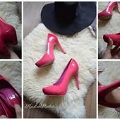 Шикарные лаковые туфли-фуксия ALDO,р-р 36