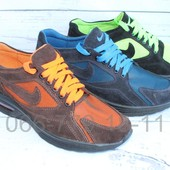 Летние мужские кроссовки А31, замша+сетка, 3 цвета