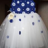 нарядное платье  017-17 с цветами
