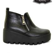 Ботинки кожаные, осень-зима