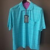 Мужская футболка голубая M xl