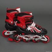Ролики 2002 М Best Rollers /размер 35-38/ цвет-красный