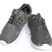 41 и 42 р Серые мужские летние перфорированные кроссовки (НК 133В)