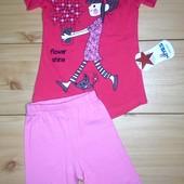 Летний костюм для девочки рр. 98-116 Турция Beebaby (Бибеби)