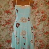 Сарафан\платье\хлопок\хлопковый голубой р.8-10 River Island
