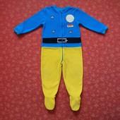 Флисовый человечек-пижама George Пожарный Сэм на 3-4 года, б/у. Хорошее состояние, без пятен, но кар