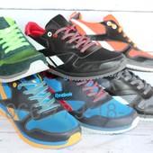 Летние мужские кроссовки, кожа, замша, разные цвета