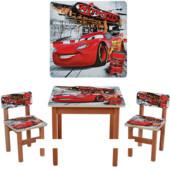 """Деревянный столик с двумя стульчиками """"Тачки-2"""" F194"""