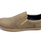 Мужские мокасины Multi Shoes рrima ср рerforation бежевые