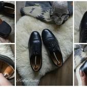 Кожаные туфли-оксфорды Clarks на широкую ногу,р-р 43-44