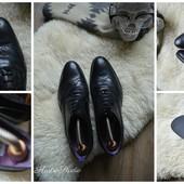 Стильные туфли-броги Италия,р-р 41