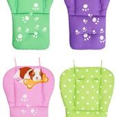 Защитный чехол, вкладыш, матрасик в коляску, стульчик для кормления. Розовый, салатовый