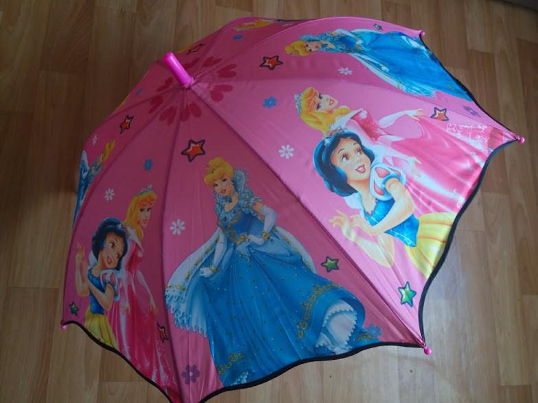 Яркий зонт зонтик трость для девочки принцессы барби фото №1