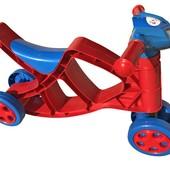 Мини байк музыкальный 0137/01 красно-синий Фламинго Doloni мотоцикл беговел каталка велобег