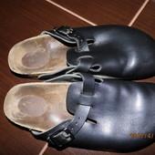 (i0012)кожаные ортопедические шлепки 40-41 р Birkenstock