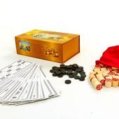 Настольная игра русское лото 8815 в картонном футляре (коробке): 90 бочонков + 24 карточки