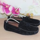 40 25,5см Gira Sole Замшевые мужские мокасины туфли