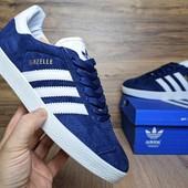 Кроссовки мужские замш Adidas Gazelle Blue
