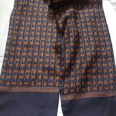 Итальянский  двойной  шарф из  натурального  шелка,размер 17,5х160см.