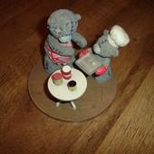 Редкая коллекционная фигурка мишки Тедди, Англия, Carte Blanche в идеале вісота 9 см, диаметр подста