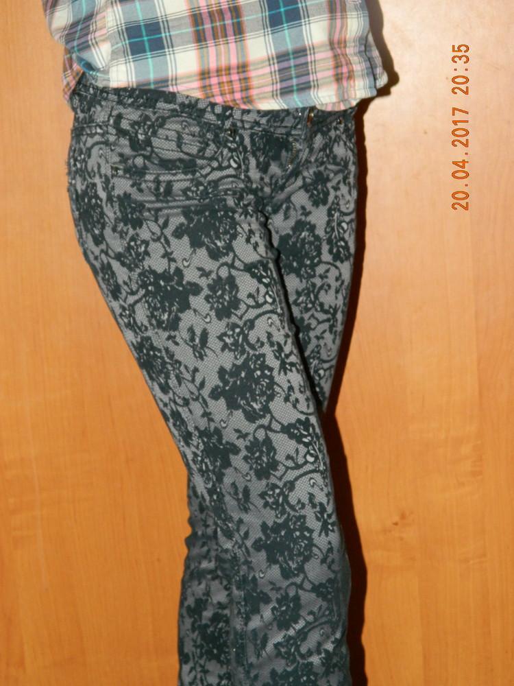 Джинсы штаны брюки в узор фото №1