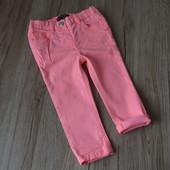 Ярко розовые джинсы на 18-24 мес