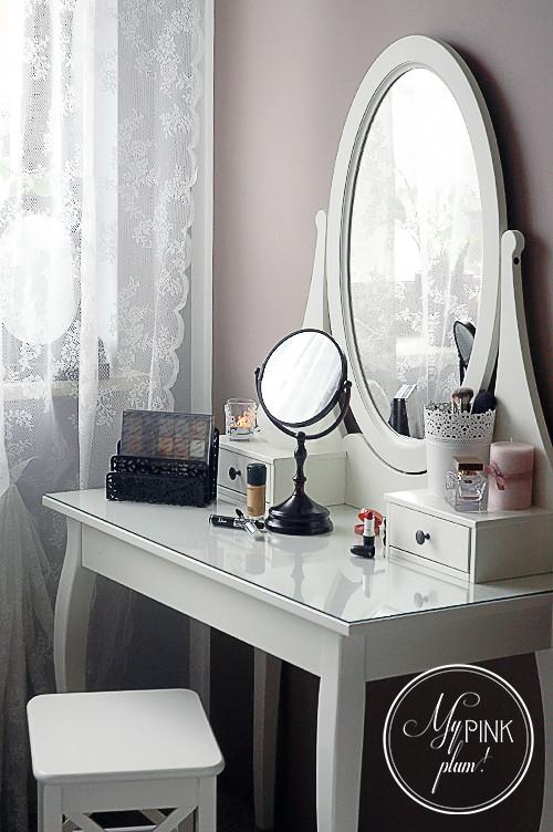 блестящий туалетный столик Hemnes от икеа икея Ikea мебель восхищает
