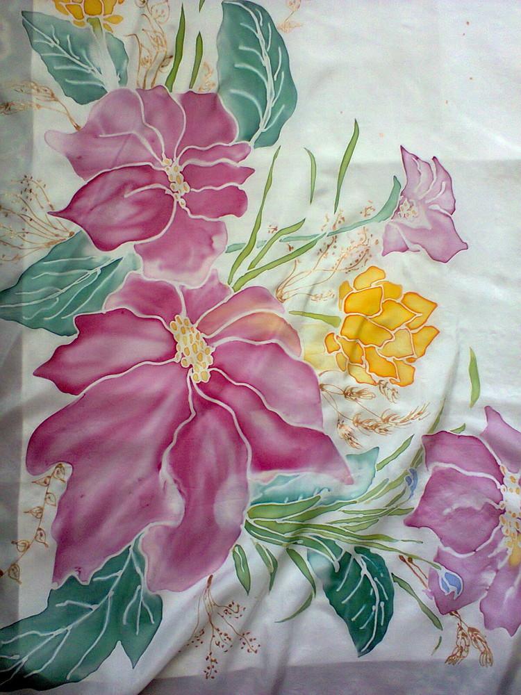 Шелковая ткань для росписи