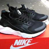 Кроссовки женские Nike Huarache  black white