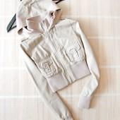 Шикарная куртка кожанка Jane Norman с капюшоном
