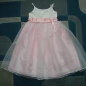 шикарное нарядное платье Bhs 7 лет (можно 6-8 лет) отл.состояние как новое