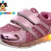 LED кроссовки для девочки Шалунишка. 2 расцветки