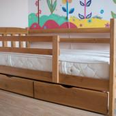 Кровать подростковая деревянная + ортопедический матрас Венето