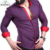 Мужская рубашка темные тона