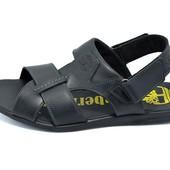 Мужские кожаные сандали T2 черные