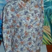 Красивая хлопковая рубашка,р-р 14,на наш 48-50,сток
