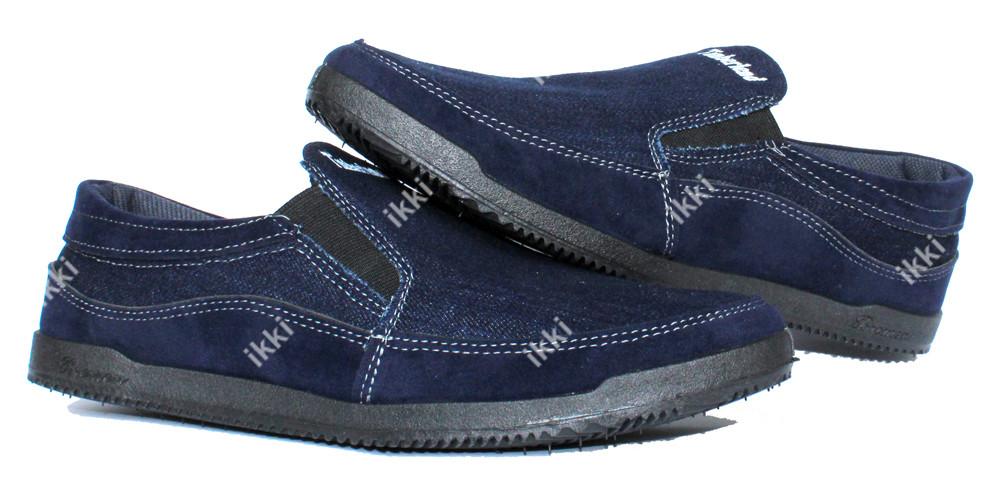 40 р летние мужские джинсовые мокасины (бл-17ст) фото №1