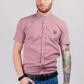 Рубашка мужская летняя в клетку 2 цвета