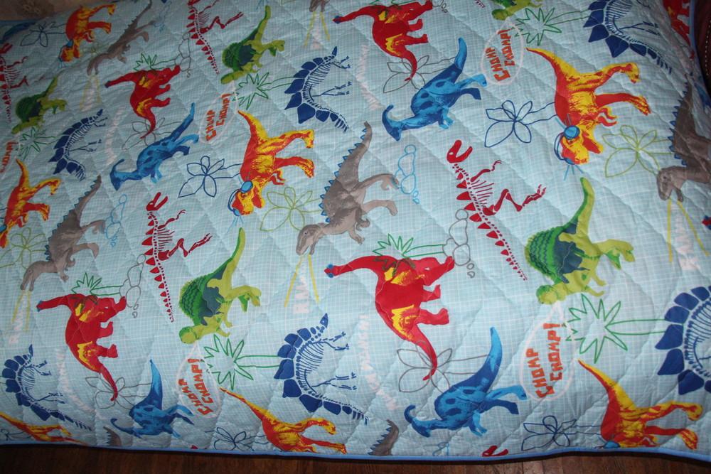 Покрывало стеганое для мальчика - динозавры фото №4