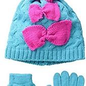 Комплект шапка и перчатки Pink Platinum. США. 3-4 и 4-6х лет.