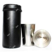 Отличный набор из шести металлических стаканов в чехле (61061)