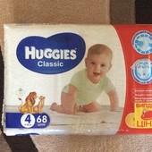 Huggies classic 4 (68 штук) 7-18 кг